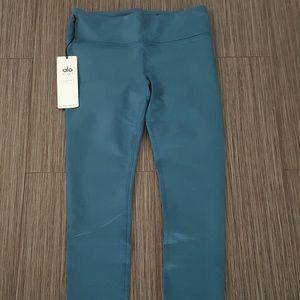 ALO Yoga Pants - Alo airbrush legging - legion blue glossy